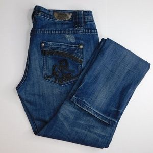 """Edgy Express """"BeRock"""" Distressed Skinny Jeans"""